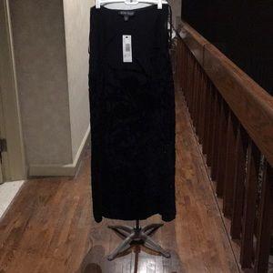 Linda Allard Ellen Tracy black skirt Sz 6 NWT